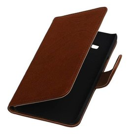 Washed Leather Bookstyle Case for Samsung Z1 Z130H Brown