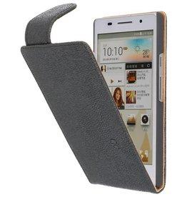 Devil Classic Flip Case for Huawei Ascend P6 Black