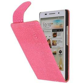 Devil Classic Flip Case for Huawei Ascend P6 Pink