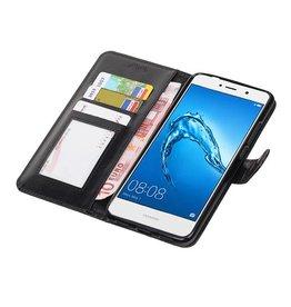 Huawei Y7 / Y7 Prime Wallet booktype wallet case Black