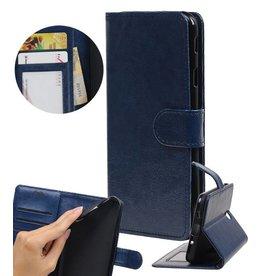 Huawei Y7 / Y7 Prime Wallet booktype wallet DonkerBlue