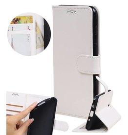 Huawei P8 Lite Wallet case booktype wallet case White