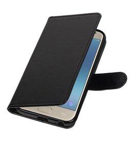 Galaxy J3 2017 Portemonnee hoesje booktype wallet case Zwart