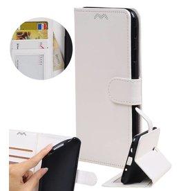 Moto E4 Plus Wallet case booktype wallet case White