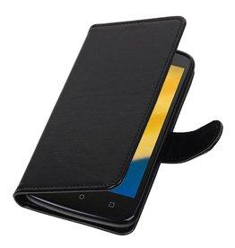 Moto C Plus Wallet case booktype wallet case Black