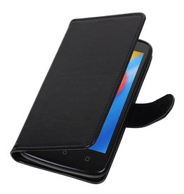 Moto C Portemonnee hoesje booktype wallet case Zwart