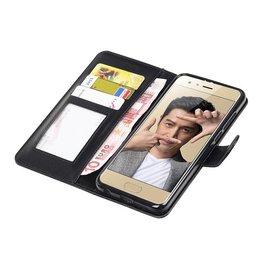 Huawei Honor 9 Wallet case booktype wallet case Black