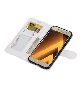 Galaxy A5 2017 Portemonnee hoesje booktype wallet case Wit