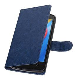 Moto C Wallet case booktype wallet case Dark blue