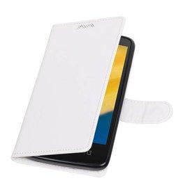 Moto C Plus Wallet case booktype wallet case White