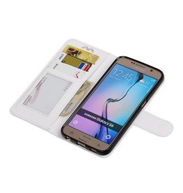 Galaxy S6 Wallet case booktype wallet case White