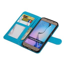 Galaxy S6 Wallet case booktype wallet Turquoise