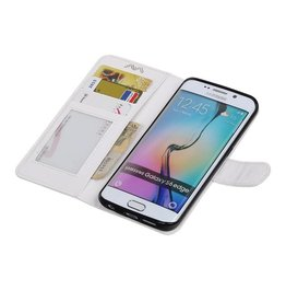 Galaxy S6 Edge Wallet case booktype wallet case White