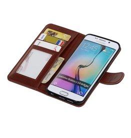 Galaxy S6 Edge Wallet case booktype wallet case Brown