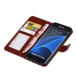 Galaxy S7 Edge Wallet case booktype wallet case Brown