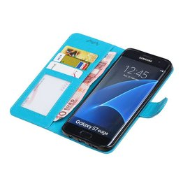 Galaxy S7 Edge Wallet case booktype wallet Turquoise