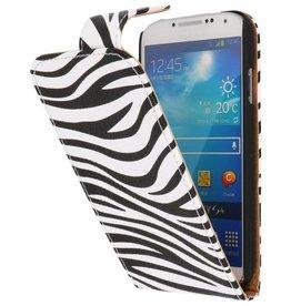 Zebra Classic Flip Case for Galaxy S4 i9500 White
