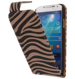 Zebra Classic Flip Case for Galaxy S4 i9500 Gray