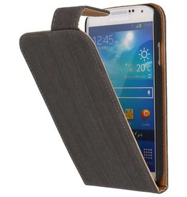 Wood Classic Flip Case for Galaxy S4 i9500 Gray