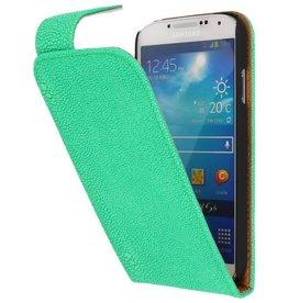 Devil Classic Flip Case for Galaxy S4 i9500 Green