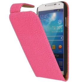 Devil Classic Flip Case for Galaxy S4 i9500 Pink