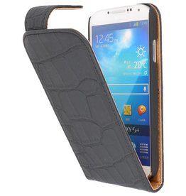 Croco Classic Flip Case for Galaxy S4 i9500 Black