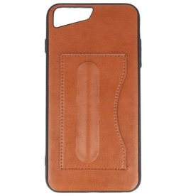 Standing TPU Wallet Case for iPhone 8 Plus / 7Plus Brown