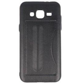 Standing TPU Wallet Case for Galaxy J3 / J3 2016 Black