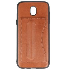 Standing TPU Wallet Case for Galaxy J5 2017 Brown