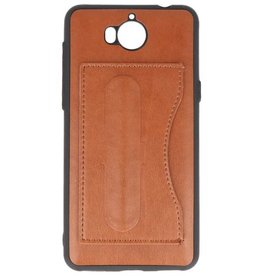 Standing TPU Wallet Case for Huawei Y5 2017 Brown