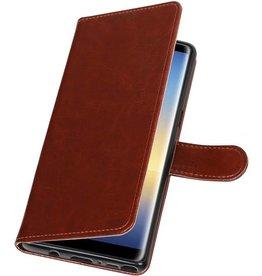 Galaxy Note 8 Wallet case booktype wallet case Brown