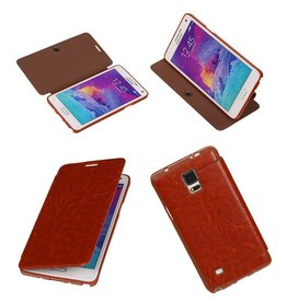 Easy Book type case for Galaxy Note 4 N910F Brown