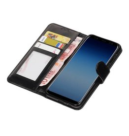 Galaxy A8 / A5 2018 Wallet Fall Booktype Black wallet Fall