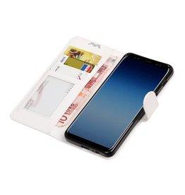 Galaxy A8 / A5 2018 Portemonnee hoesje booktype wallet case Wit
