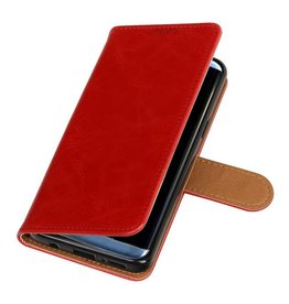 Pull Up TPU PU-Leder-Buch-Art-Galaxie S9 Red