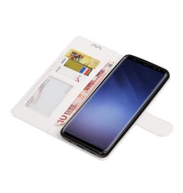 Galaxy S9 Plus-Wallet Falfall Buchtyp Geldbörse weiß