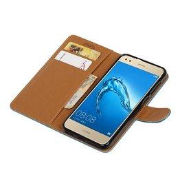 Huawei P9 Lite mini Portemonnee hoesje wallet case D.Blauw