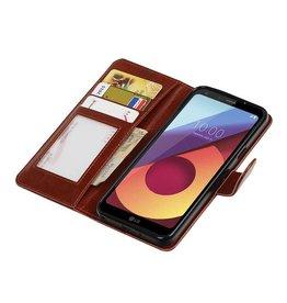 LG Q8 Wallet case booktype wallet case Brown