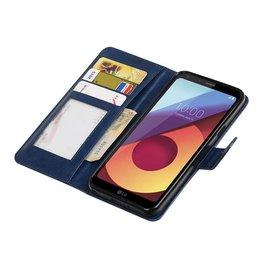 LG Q8 Wallet case booktype wallet case Dark Blue