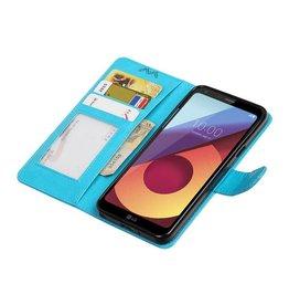 LG Q8 Wallet case booktype wallet case Turquoise