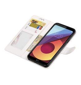 LG Q8 Wallet case booktype wallet case White
