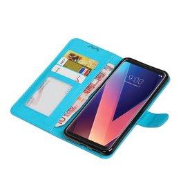 LG V30 Wallet case booktype wallet case Turquoise