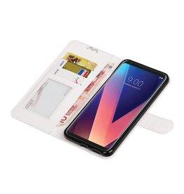 LG V30 Wallet case booktype wallet case White