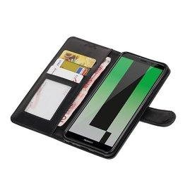 Huawei Mate-10 Lite Wallet Fall Booktype Brieftasche Schwarz