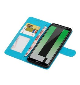 Huawei Mate-10 Lite Wallet Fall Booktype Turquoise