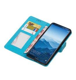 Huawei Mate 10 Pro Portemonnee hoesje booktype Turquoise