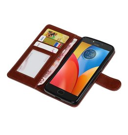 Moto E4 Wallet case booktype wallet case Brown