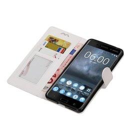 Nokia 6 Wallet case booktype wallet case White