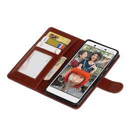 Nokia 7 Wallet case booktype wallet case Brown