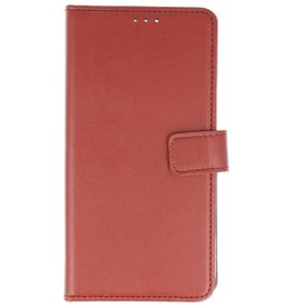 Bookstyle Wallet Cases Hoes voor Huawei P Smart Bruin